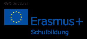 Gefördert durch Erasmus+ Schulbildung